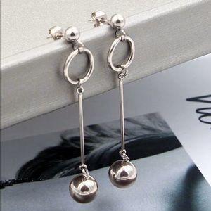 Titanium Ball Drop Earrings